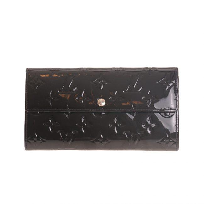 Louis Vuitton Navy Blue Monogram Vernis Leather Sarah Wallet