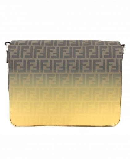 Fendi Ombre Effect Tobacco Zucca Canvas Messenger Bag