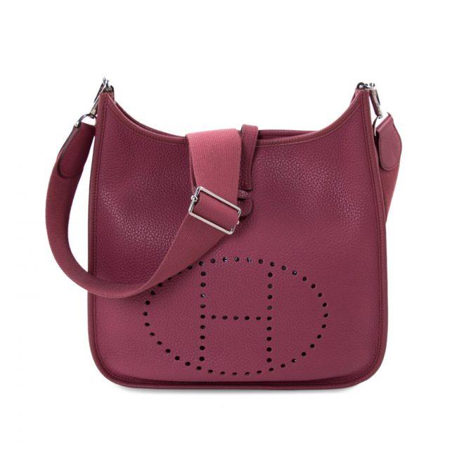 Hermes Tesko Pink Clemency Leather Evelyne III 29