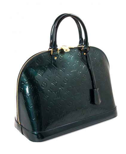Louis Vuitton Green Monogram Vernis Leather Alma GM