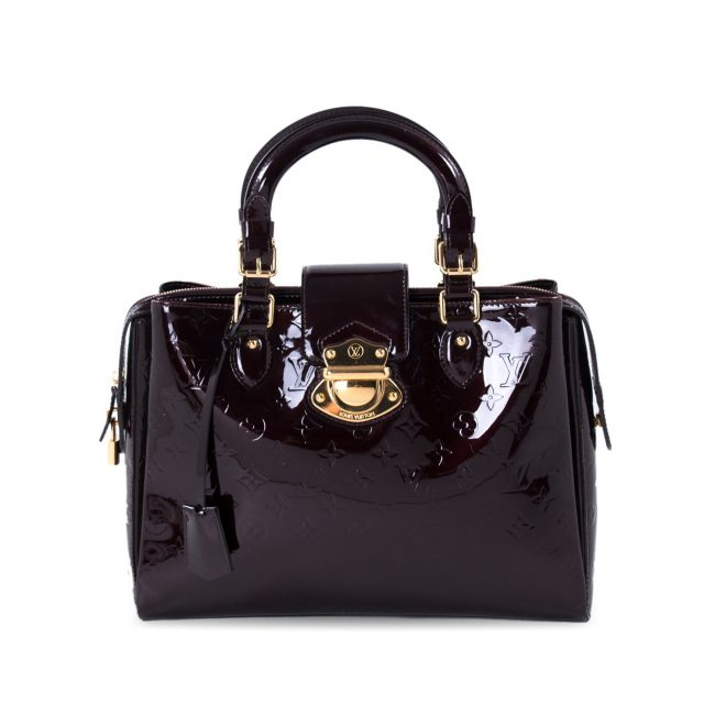 Louis Vuitton Oxblood Monogram Vernis Leather Melrose Avenue Bag