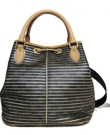 Louis Vuitton Metallic Leather Striped Eden Neo Tote Handbag