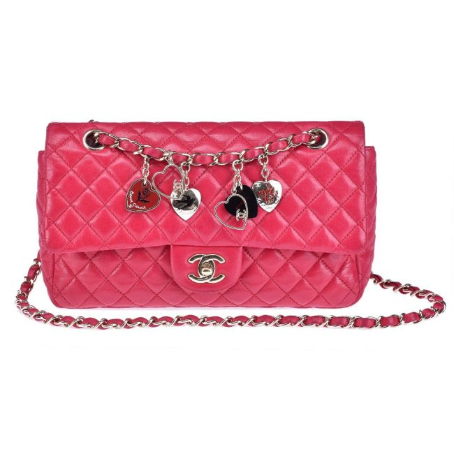 Chanel Pink Quilted Leather Small Classic Single Flap Bag