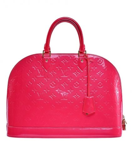 Louis Vuitton Pink Monogram Vernis Leather Alma Gm