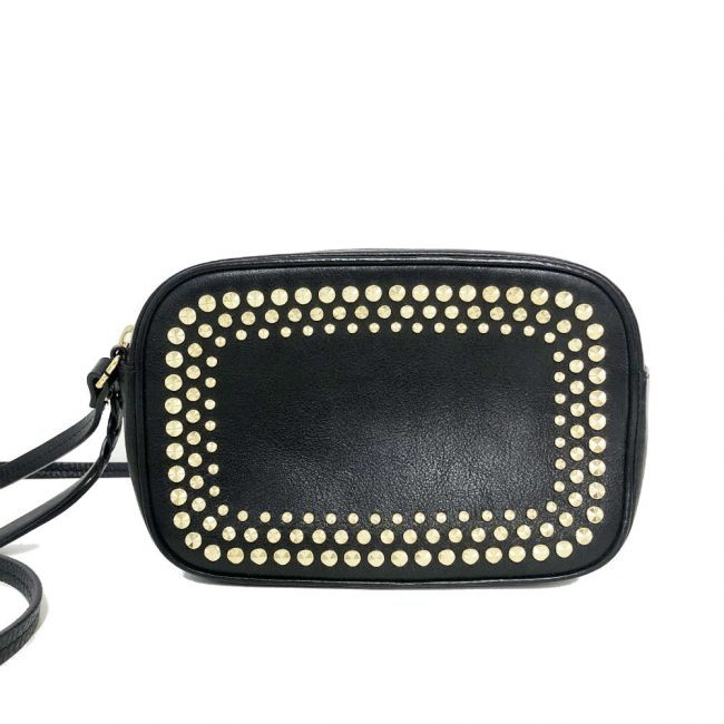 Alexander McQueen Black Leather Camera Crossbody Bag