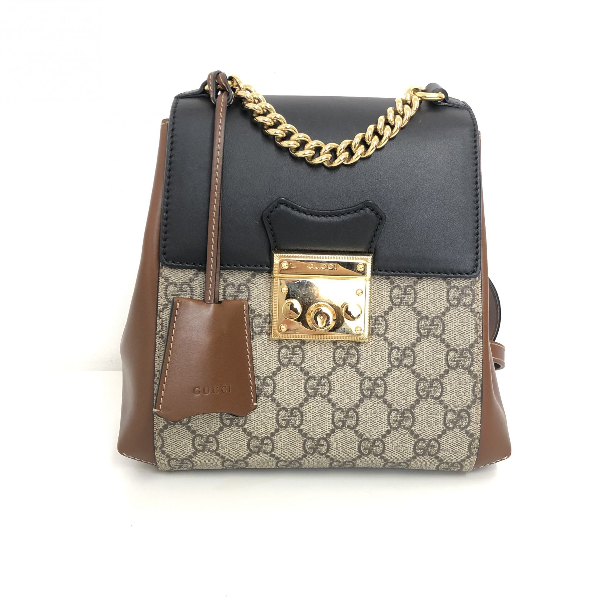 ab6a10a98048cb My-Luxury-Bargain-Gucci-Beige-GG-Canvas-Leather-Padlock-Backpack -1-2000x2000.jpg