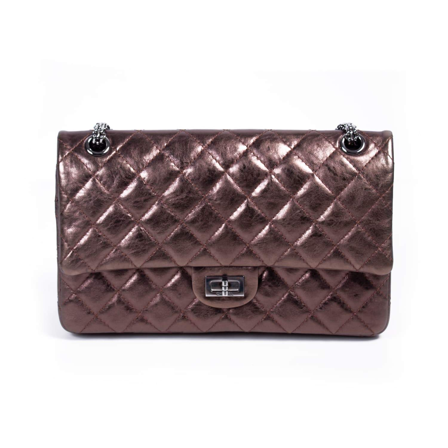 bbf29ecb2e3d Chanel Bronze Quilted Leather Reissue 2.55 Classic 226 Flap Bag - My Luxury  Bargain