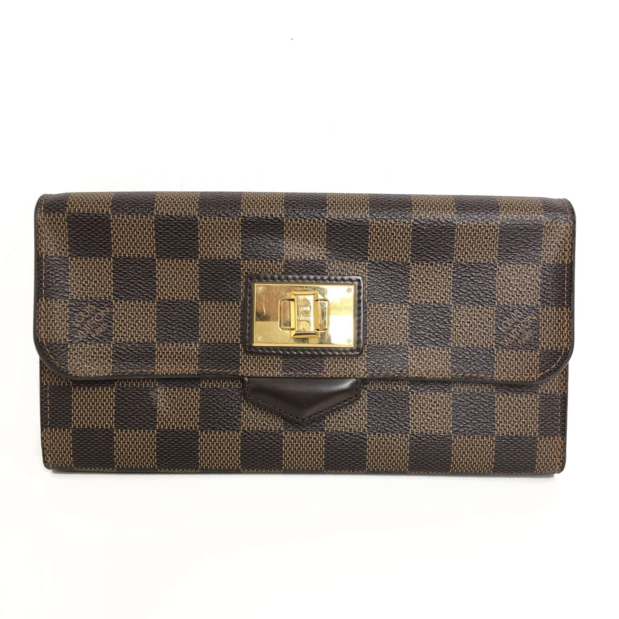 7ba29b2257e5 Louis Vuitton Damier Ebene Roseberry Wallet - My Luxury Bargain