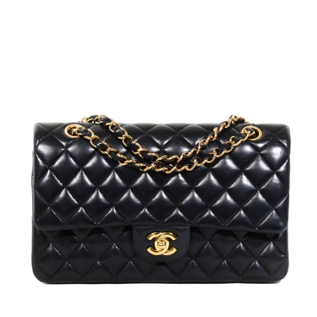 Chanel Black Quilted Leather Medium Classic Flap Bag