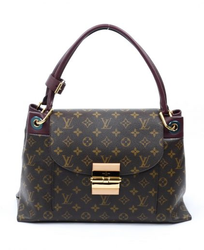 5a56ef92cbc3 Louis Vuitton Burgundy Monogram Canvas Olympe Handbag ...