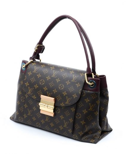 Louis Vuitton Burgundy Monogram Canvas Olympe Handbag