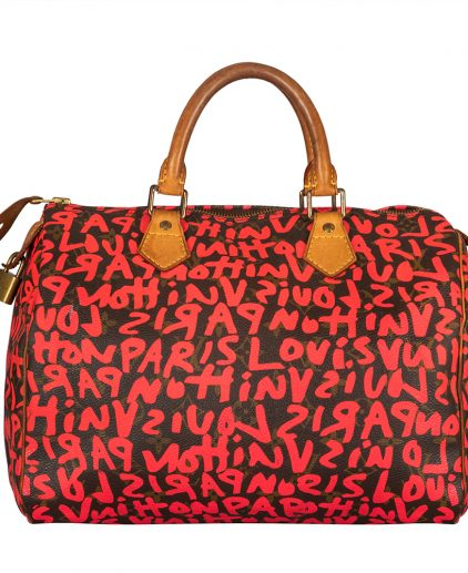 Louis Vuitton Cherry Graffiti Stephen Sprouse Speedy 30 Bag