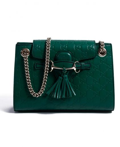 Gucci Green Leather Small Emily Shoulder Bag