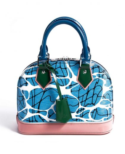 Louis Vuitton Epi Leather Aqua Print Alma BB Handbag
