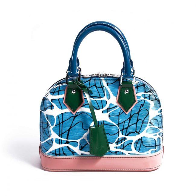 Louis Vuitton Epi Leather Aqua Print Alma BB Handbag