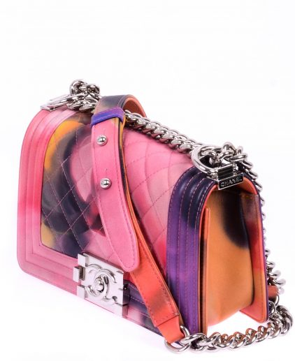 Chanel Multicolor Pink Flower Power Le Boy SHW Handbag