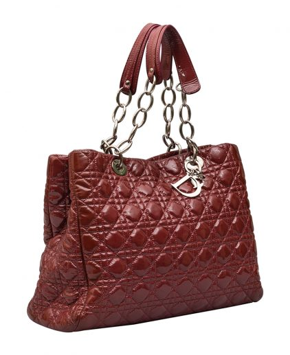 Dior Red Patent Leather Panarea Tote