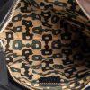 Gucci Metallic Black Leather D Ring Hobo