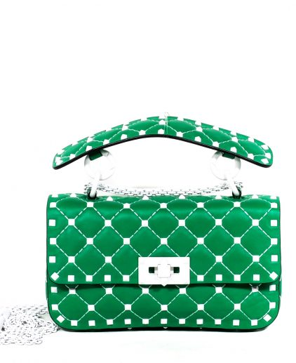 Valentino Mint Green Leather Small Rockstud Spike Chain Bag