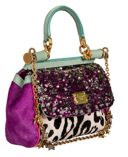 Dolce and Gabbana Sequin Calf Hair Miss Sicily Mini Handbag