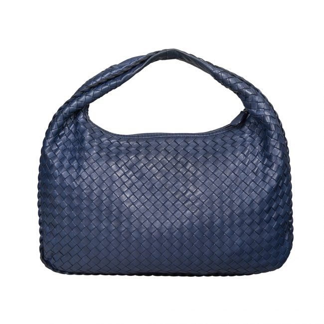 Bottega Veneta Atlantic Blue Nappa Leather Intrecciato Hobo Bag