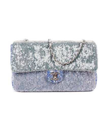 Chanel Medium Waterfall Sequin Flap Handbag