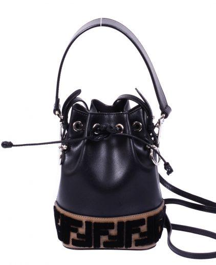 Fendi Black Leather Mini Bucket Bag