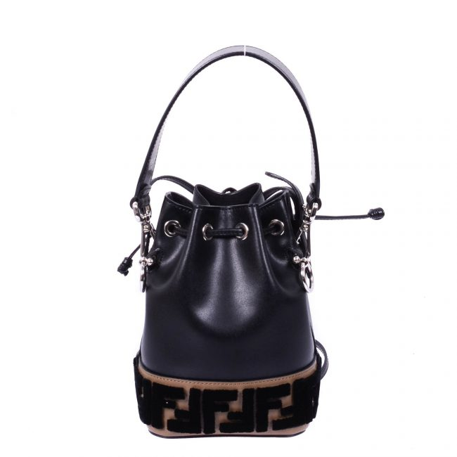 Fendi Black Leather Mini Bucket Bag