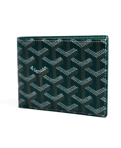 Goyard Green Coated Canvas Victoire Bifold Wallet