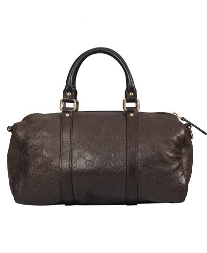 Gucci Dark Brown Guccissima Leather Joy Boston Bag