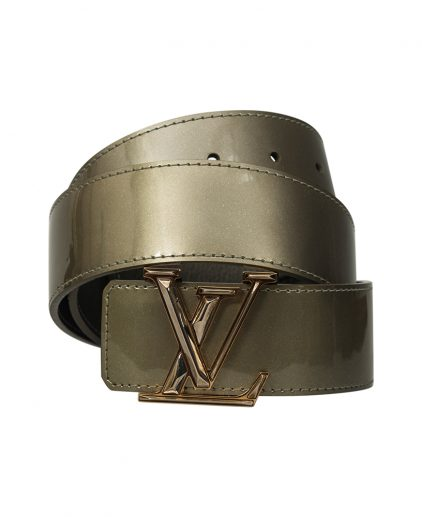 Louis Vuitton Green Vernis Leather Initials Belt 80CM