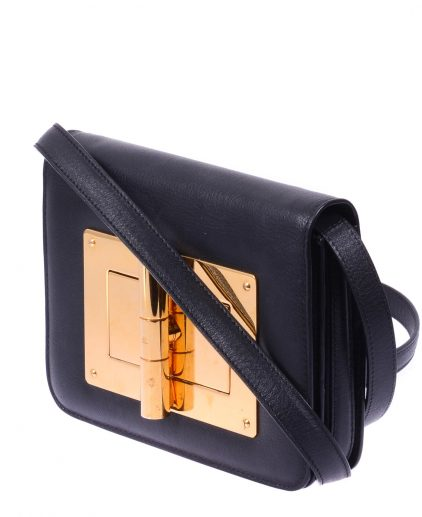 Tom Ford Black Leather Small Natalia Crossbody Bag
