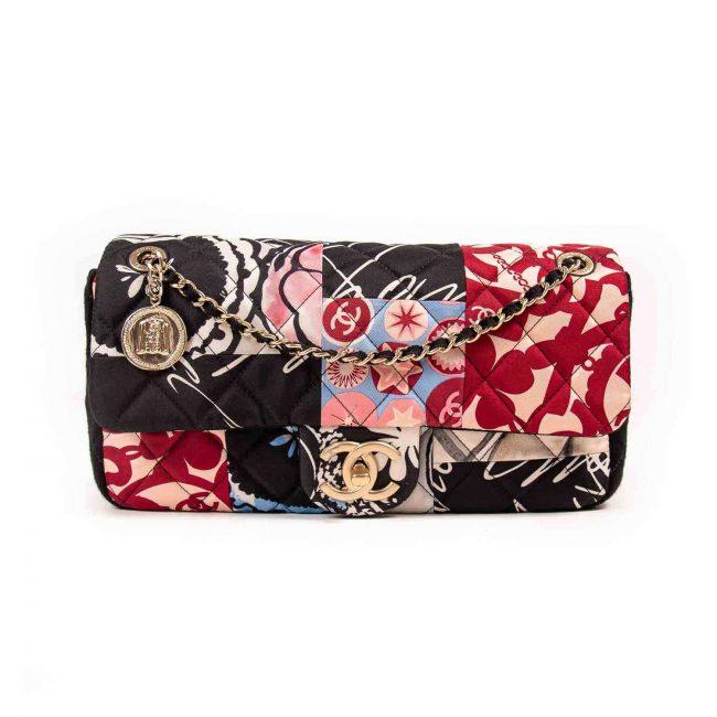 Chanel Multicolor Quilted Printed Medium Single Flap Handbag