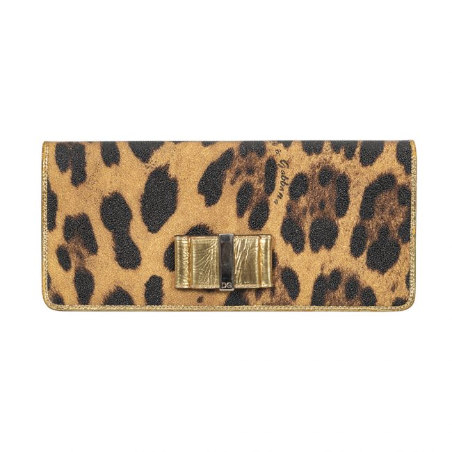 Dolce and Gabbana Leopard Print Flap Wallet