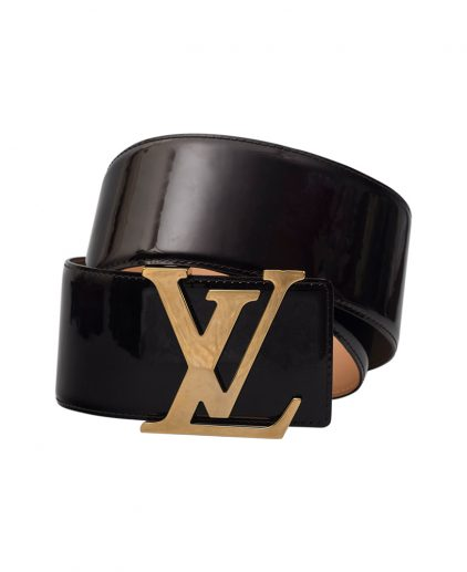 Louis Vuitton Amarante Vernis Leather Wide Belt 85CM