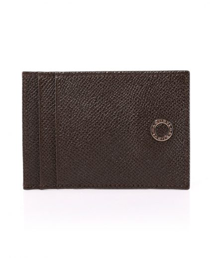 Bvlgari Brown Leather Card Holder