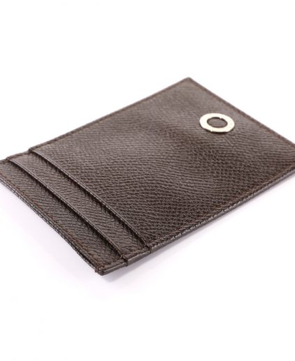 Bvlgari Brown Leather Card Holder