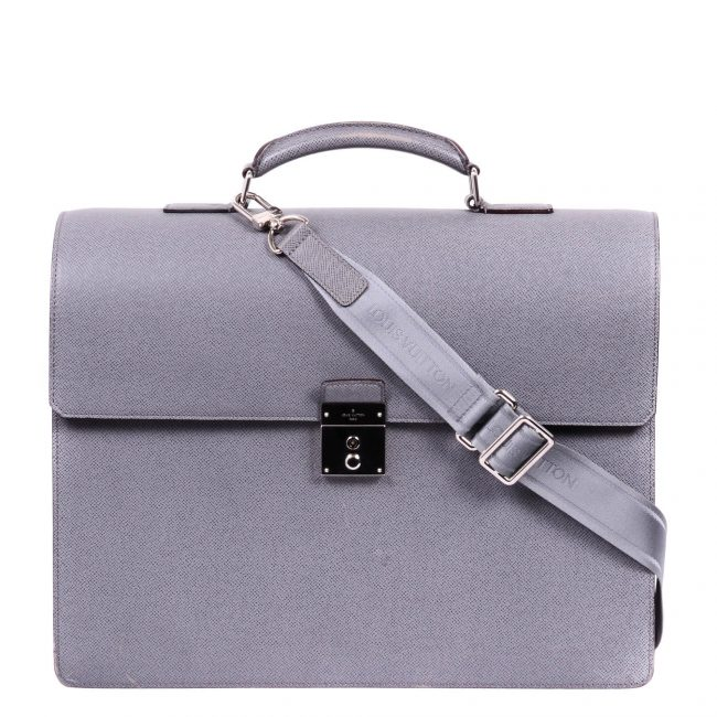 Louis Vuitton Grey Taiga leather Robusto III Briefcase