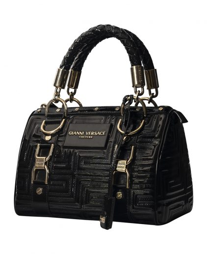 Versace Black Patent Leather Satchel
