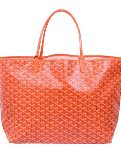 Goyard Orange Coated Canvas St Louis GM Tote