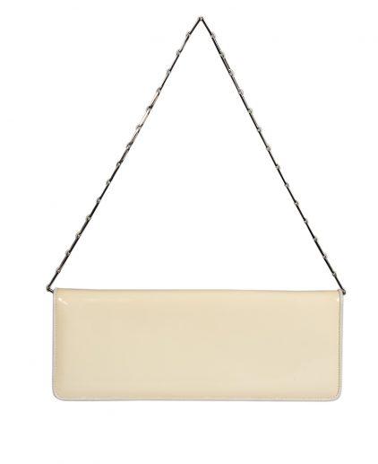 Salvatore Ferragamo White Patent Leather Clutch