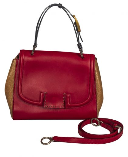 Fendi Tri Color Leather Silvana Shoulder Handbag