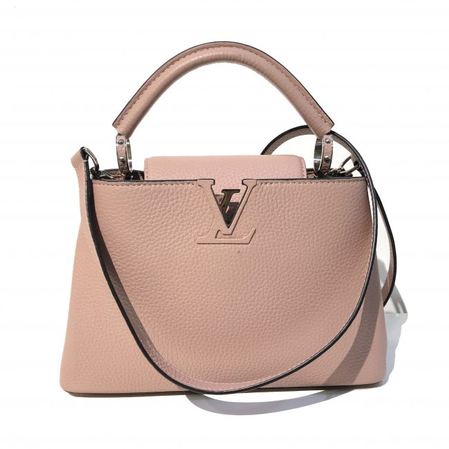 Louis Vuitton Dusty Pink Taurillon Leather Capucines BB Bag
