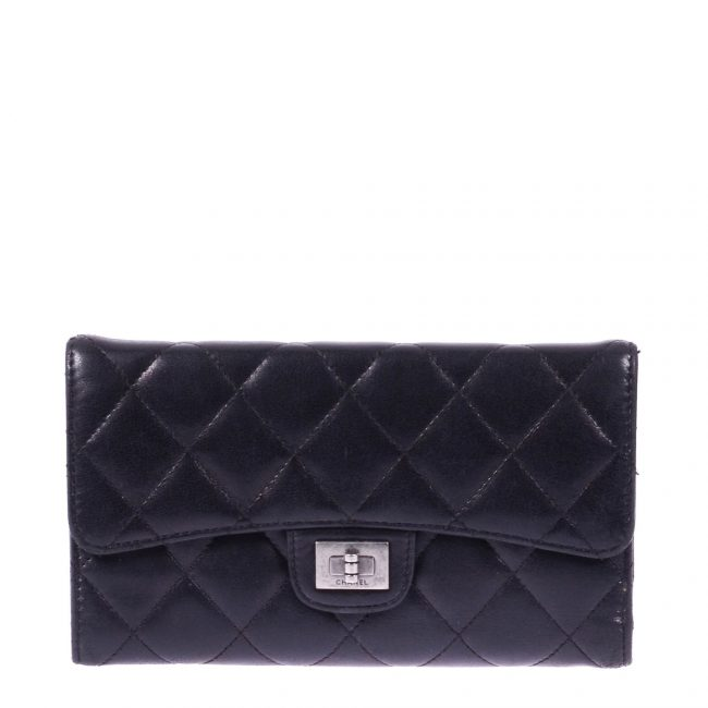 Chanel Black Quilted Leather Reissue Trifold Wallet