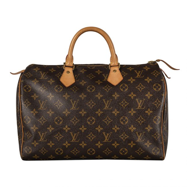 Louis Vuitton Monogram Canvas Speedy 35 Handbag