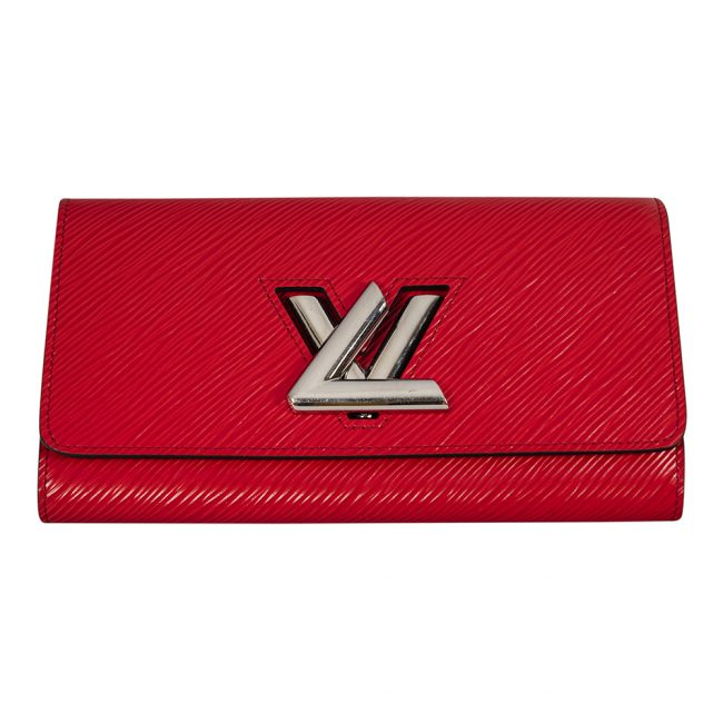 Louis Vuitton Coquelicot Epi Leather Twist Wallet
