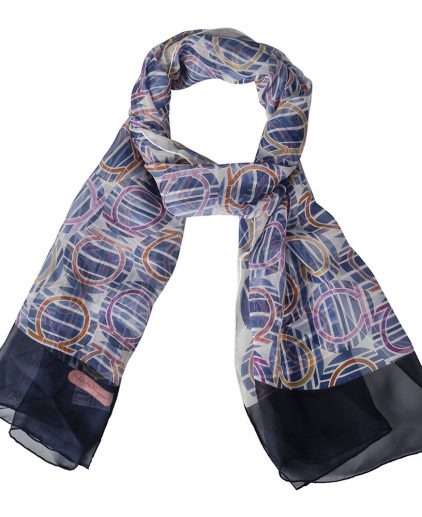 Salvatore Ferragamo Multicolor Printed Silk Scarf