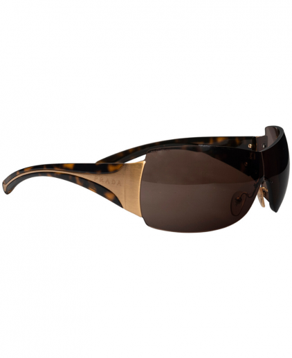 Prada Brown SPR 041 Shield Women Sunglasses