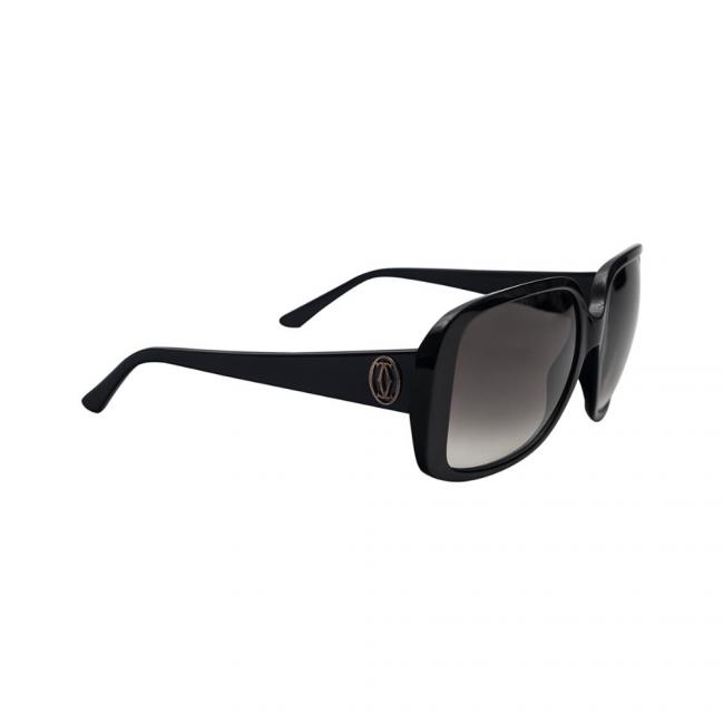 Cartier Black 140 Square Women's Sunglasses