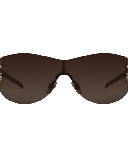 Dolce and Gabbana DG 6036 502/13 Light Brown Shield Women's Sunglasses